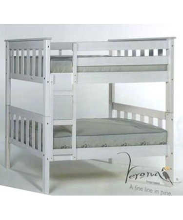 Verona Designs Junior 3ft Barcelona Shorty Whitewash Bunk Bed A classic bunk bed design with a space saving twist brought to you by Verona the Barcelona shorty bunk bed with its traditional clean lines is ideal for two children sharing a room.The solid pine co http://www.comparestoreprices.co.uk/bunk-beds/verona-designs-junior-3ft-barcelona-shorty-whitewash-bunk-bed.asp