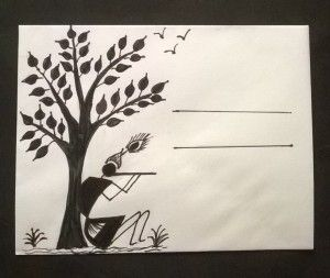 Warli envelopes -craft for kids