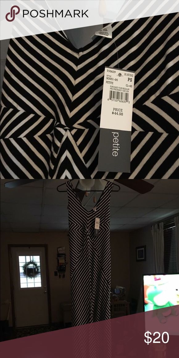 Maternity dress NWT paid $45 Black and white stripe maternity dress NWT Dresses Maxi