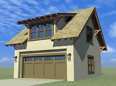 Bungalow carriage house with living space above. Get the look with a Clopay Coachman Collection garage door, Design 11 with REC windows. www.clopay.com.
