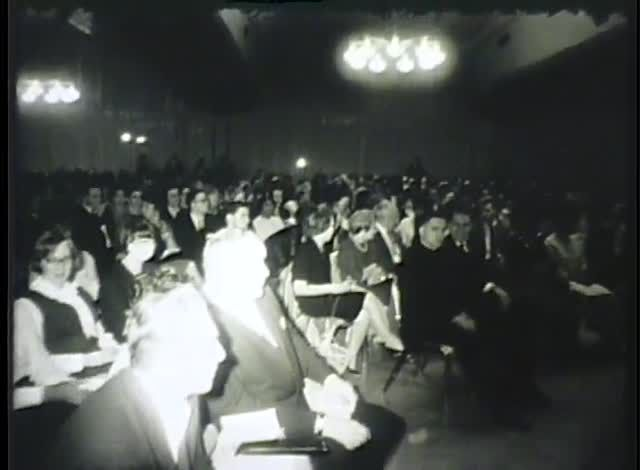 In celebration of Dr. Martin Luther King Day, we are highlighting a news film clip of him speaking at UW-Milwaukee on November 23, 1965.  He is first seen speaking to a sold out crowd in the Union Ballroom, and later being interviewed in an unknown location on campus. In his speech, Dr. King addresses the need to solve current problems through action rather than analysis and study.