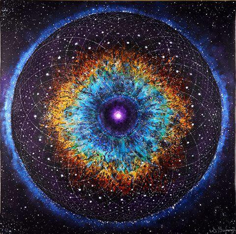 Lost On Indigo Isle | Nebular Mandala by Sean Yarbrough