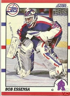 Bob Essensa! My favourite goalie playing for my favourite team! Gotta love those Jets! <3