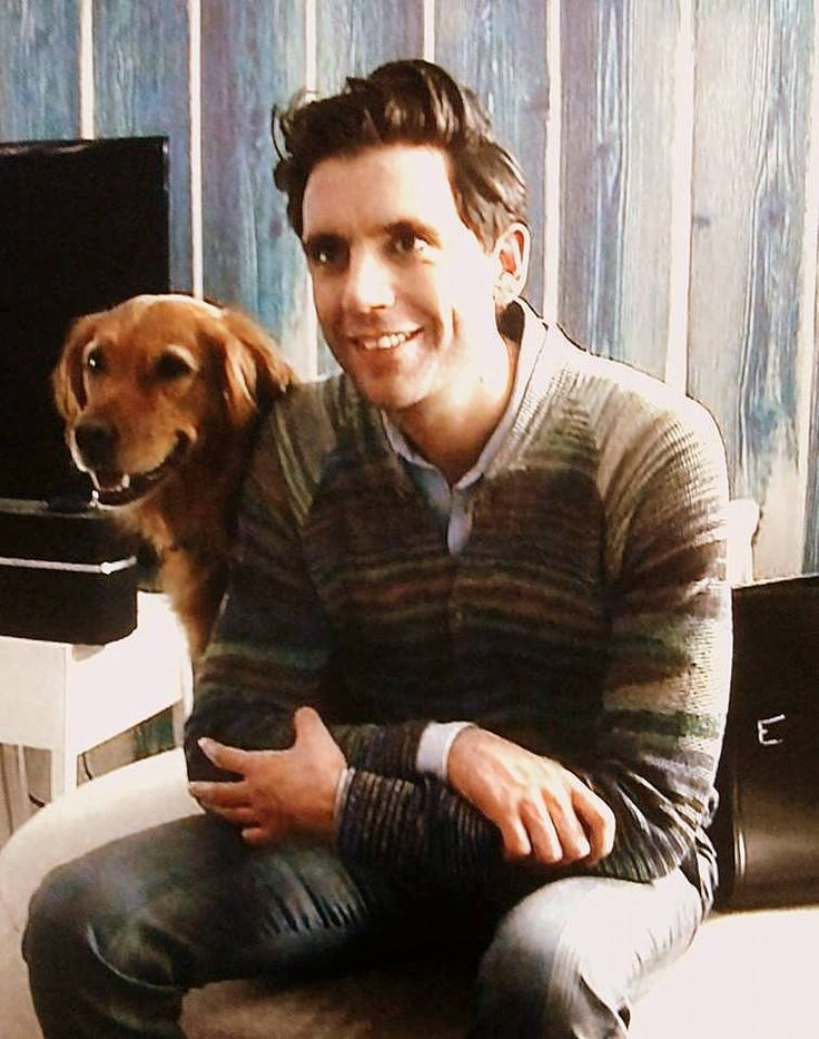 Mika with his dog Melachi
