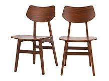 2 x Jacob Dining Chairs Natural Walnut