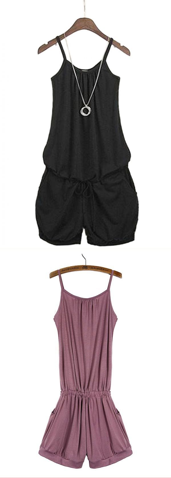 Women casual all-match sleeveless romper strap short jumpsuit jumpsuits and playsuits cheap #jumpsuits #and #playsuits #online #india #jumpsuits #y #playsuits #womens #jumpsuits #and #playsuits #uk