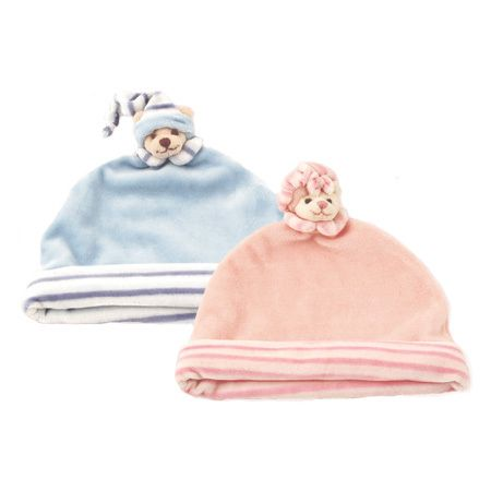 Soft and cosy #baby #hat in blue or pink. Designed by Barbara Bukowski and created by #Bukowski in Sweden