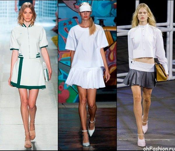 Теннисная юбка - тенденции спортивной моды
