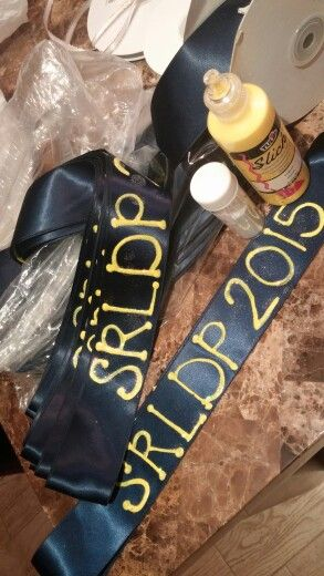 Diy pre-k graduation sashes.made with ribbon glitter and ...