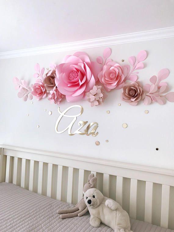 Conjunto de 7 flores de papel flores de papel de calidad