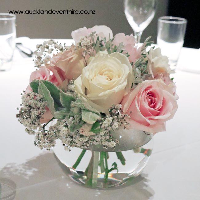Fish Bowl Vase Auckland Wedding Party Event Hire Flower Centerpieces Wedding Wedding Centerpieces Wedding Flower Arrangements