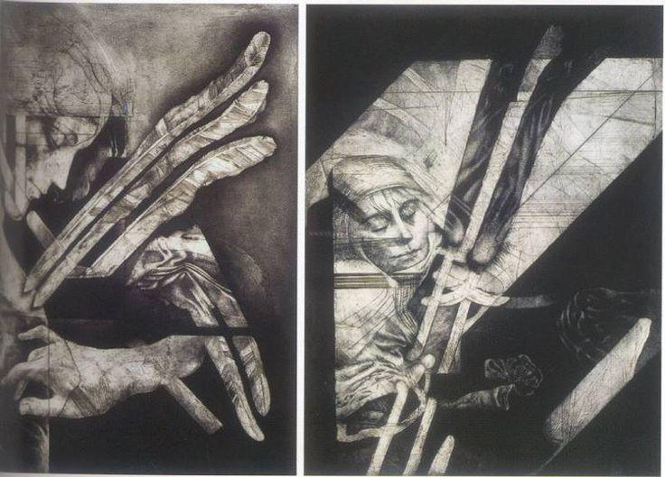 El delirio de las monjas muertas  8 y 11 - Juan Antonio Roda, Valencia, España, 1921, 2003