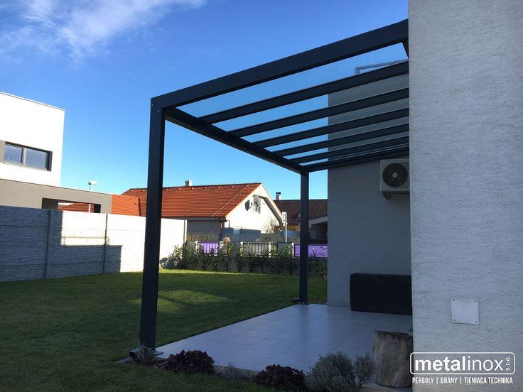 Oceľový prístrešok NEO so sklom/ Steel shelter NEO with glass. Caport/shelter house/pergola
