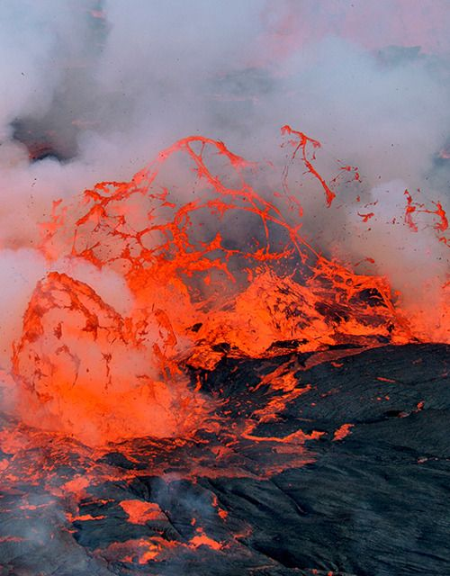 lava lake boiling in the depths of nyiragongo crater, in the heart of the great lakes region of africa. Nyiragongo's lava lake has at times been the most voluminous known lava lake in recent history. The depth of the lava lake varies considerably. A maximum elevation of the lava lake was recorded at about 3,250 m (10,660 ft) prior to the January 1977 eruption - www.instinctsafaris.com