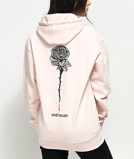 174bfa794 DROPOUT CLUB INTL. x Bonethrower Rose Pink Hoodie in 2019 | Clothes ...
