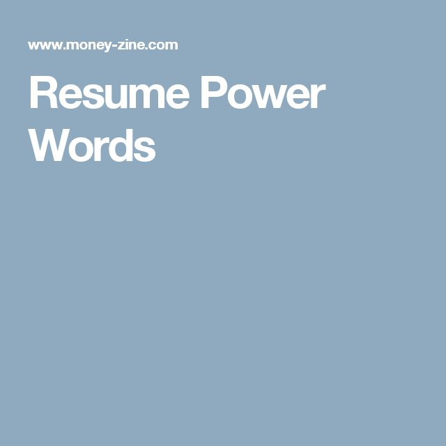 Best 25+ Resume power words ideas on Pinterest Resume tips - good words to use in a resume