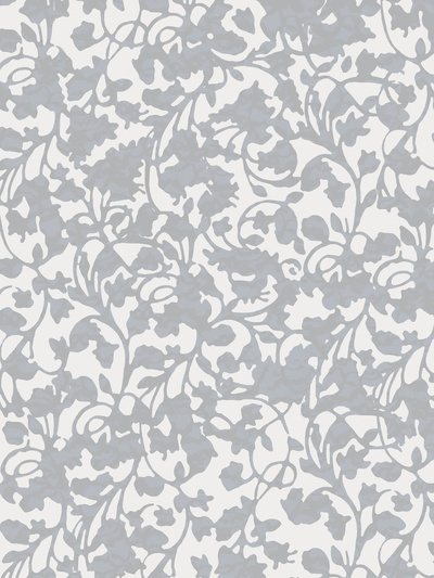 gray and white floral pattern