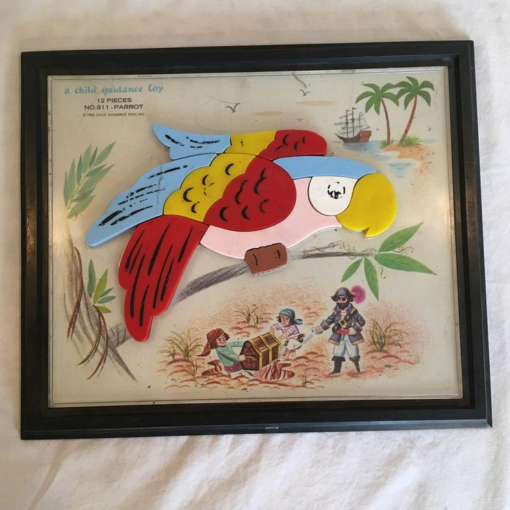1962 Parrot Child Guidance Toy Puzzle