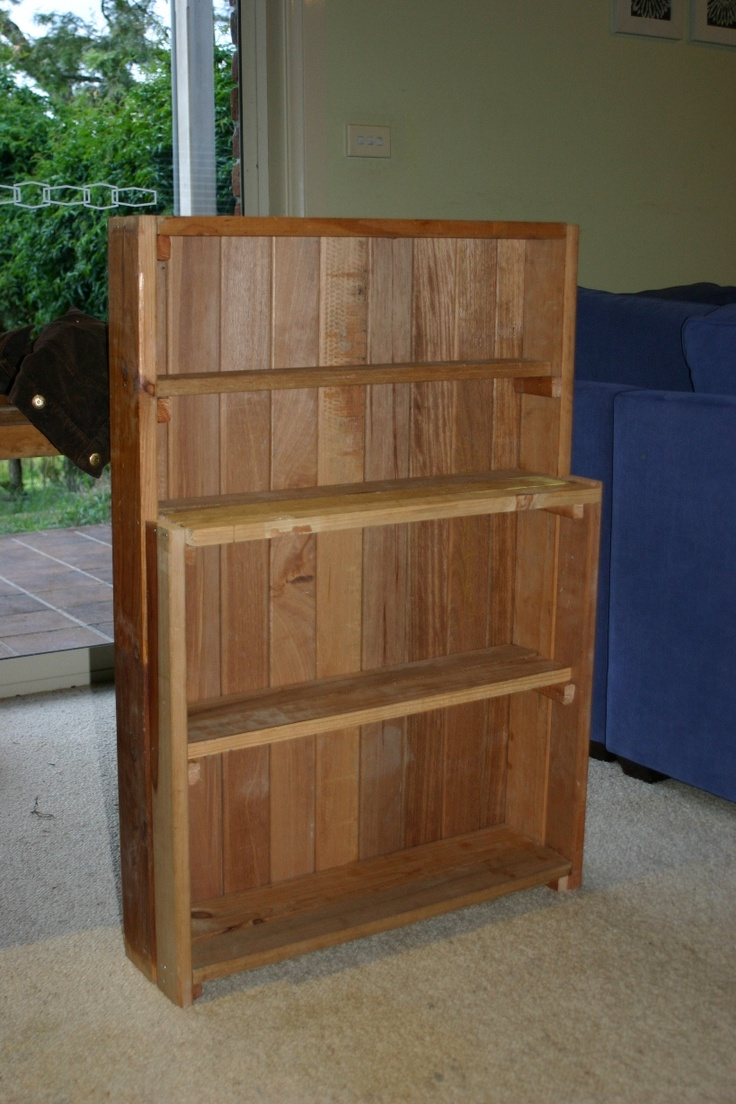 A buffet for our cubby house built out of old bed slats