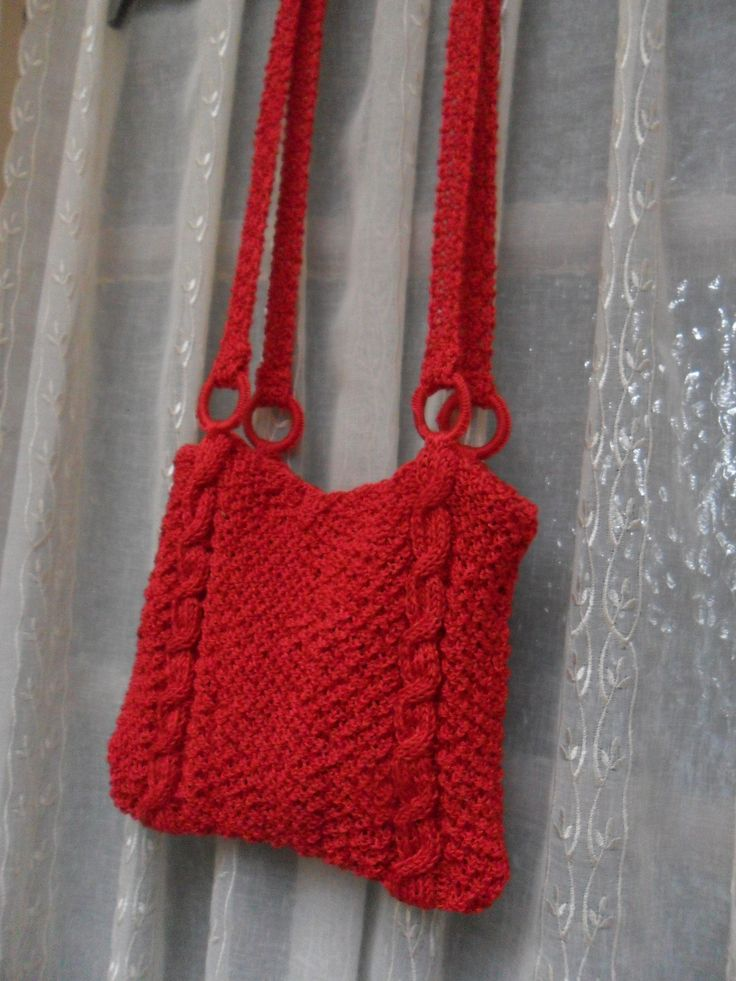 Sac tricot rouge