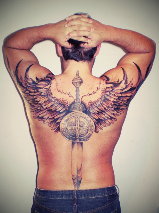 59 best images about tattoos on pinterest for Crossed swords tattoo