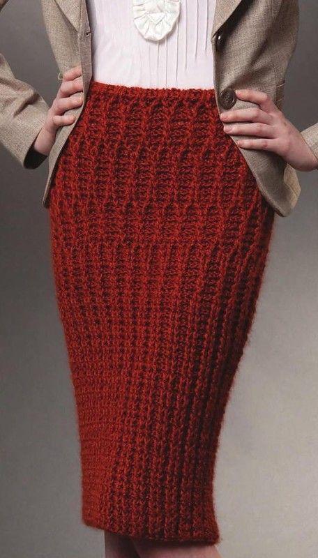 Terracota falda de ganchillo