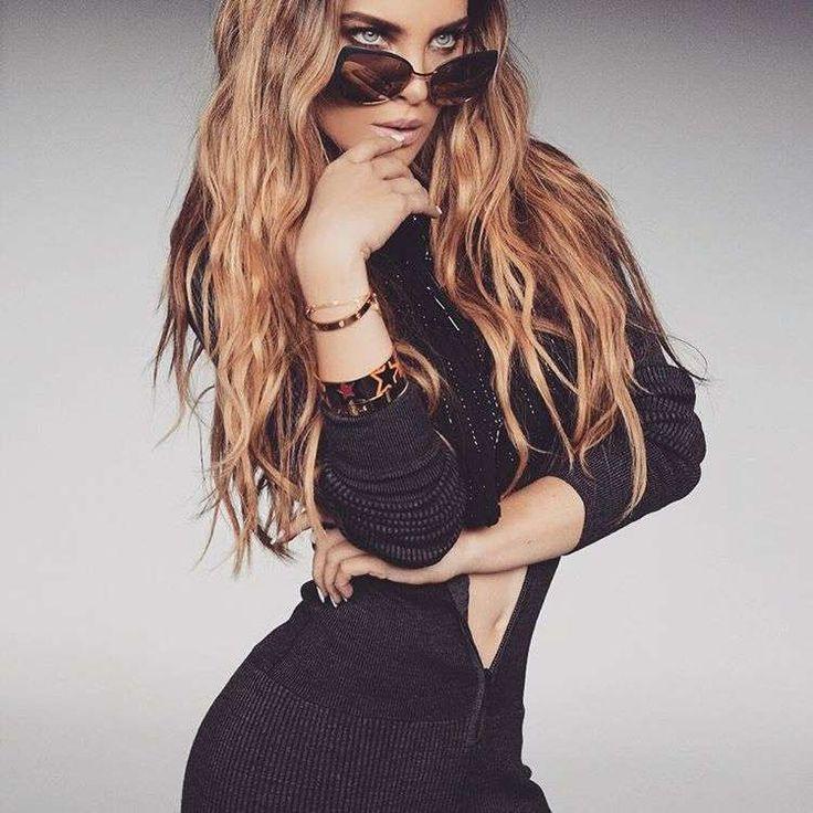 Belinda: Sus mejores beauty looks [FOTOS] - Belinda con cabello ondulado maxi largo y maquillaje bronceado
