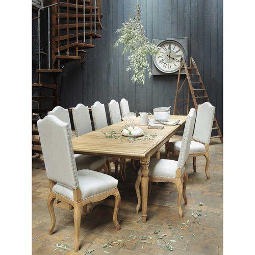 Tavolo allungabile per sala da pranzo in massello di quercia L 100 cm
