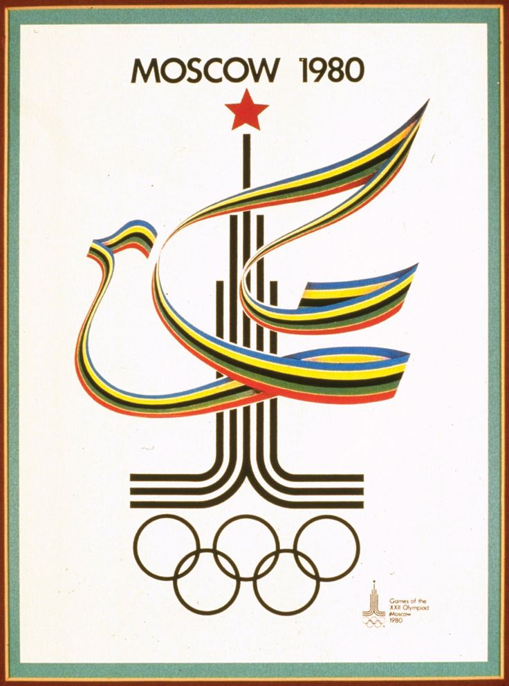 An official poster from the 1980 Summer Olympics held in Moscow.  © IOC Olympic Museum—Allsport/Getty Images