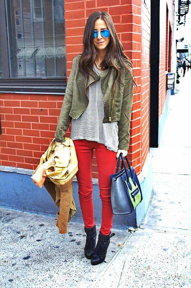 Shop this look on Kaleidoscope (jacket, jeans, sunglasses, bootie)  http://kalei.do/WlcXptieKImbgBlR