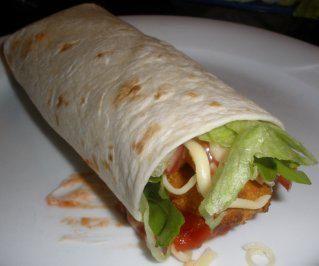 WRAP…fast genauso gut wie der Crispy Chicken Wrap von Mc Donalds