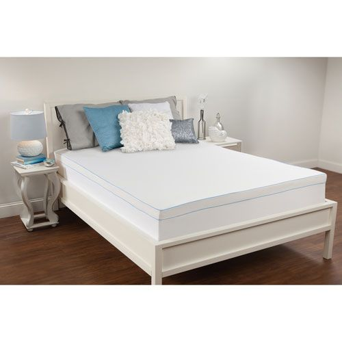 White 3-Inch Queen Memory Foam Mattress Topper - (In No Image Available)