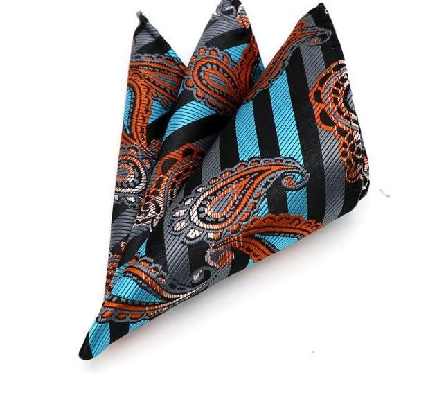 Fashion Mens Male Floral Handkerchief Silk Pocket Square Hanky Wedding Party
