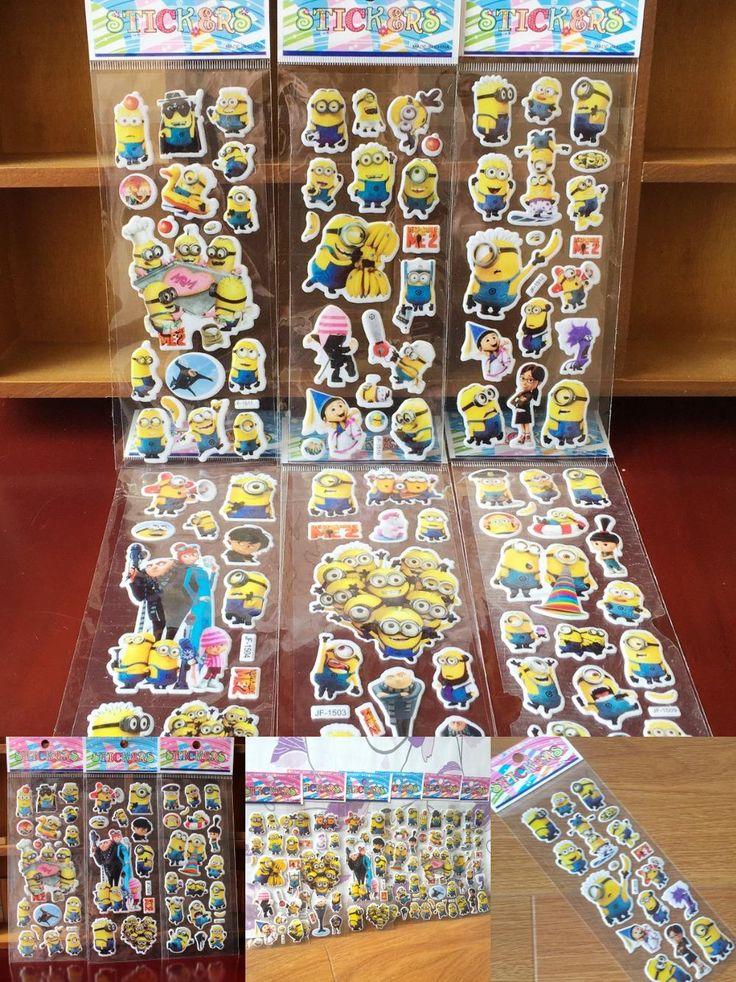 [Visit to Buy] New 2016   Foam Cartoon minion 3D Sticker Hello Kitty Model Toy Fashion Cute DIY Craft Scrapbook Stickers Christmas gift #Advertisement