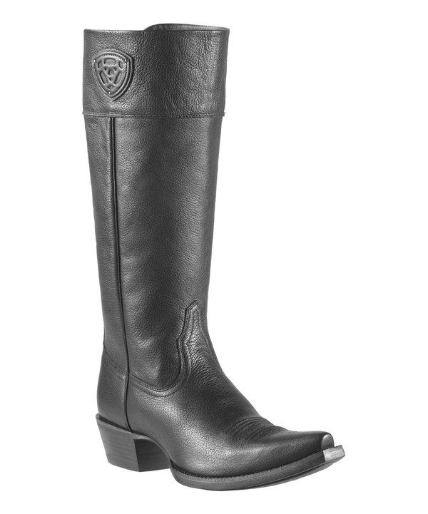 Look at this Black Deertan Chandler Leather Boot - Women on #zulily today!