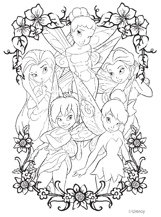 disney tinkerbell and friends coloring pages - Coloring Pages Tinkerbell