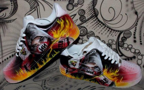 31c6665ec7 Nike Air Force 1 Airbrush Custom Graffiti Painted Shoes Art