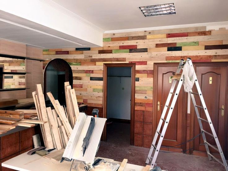 Pallet Wall Paneling / Remodeling Project | 99 Pallets
