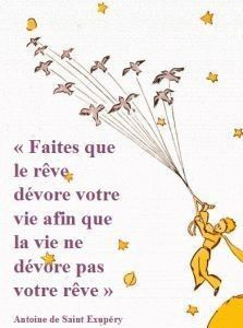 Le petit prince - make it so that your dream devours your life so that your life does not devour your dreams