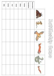 Many English teaching worksheets: The Gruffalo
