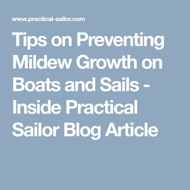 Tips on Preventing Mildew Growth on Boats and Sails - Inside Practical Sailor Blog Article