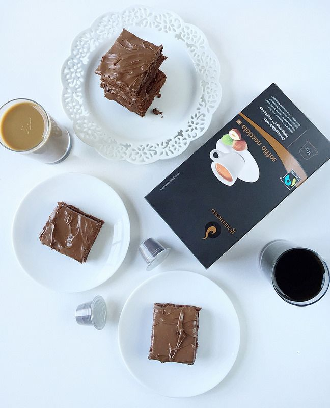 Try this frosted hazelnut espresso brownie recipe with our coffee capsules! www.gourmesso.com