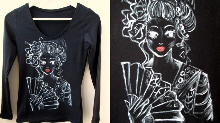 """""""If you aren't the woman I think you are, then this isn't the world I thought it was."""" ― Arthur Golden, Memoirs of a Geisha   Hand painted t-shirt"""