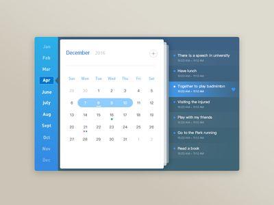 The design of a PC calendar