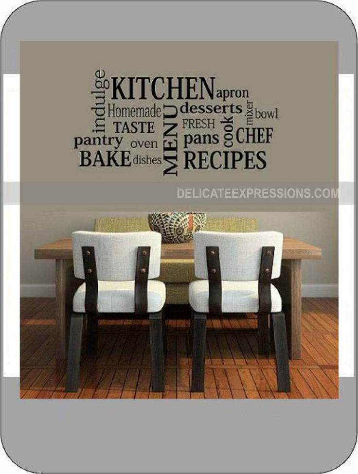 Best Wall Art Images On Pinterest Kitchen Walls Kitchen - Custom vinyl wall decals for kitchenbest vinyl wall art images on pinterest vinyl wall art wall