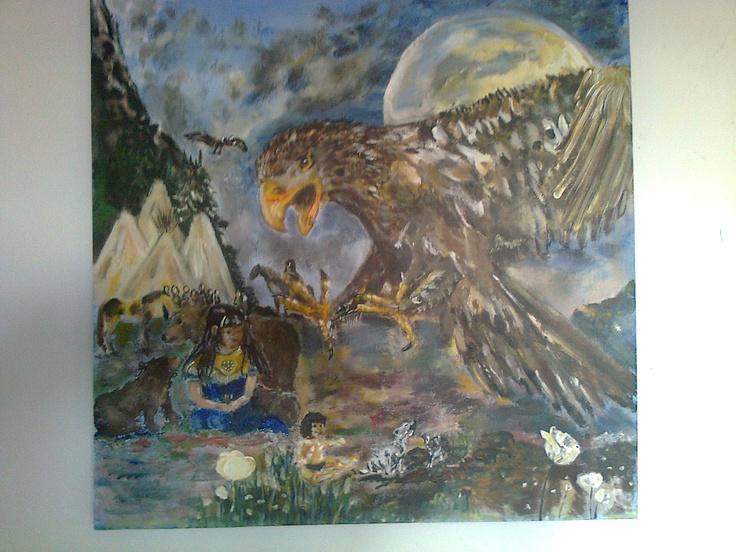 A little story of the Native American, from Art By Hansen, DK.  www.facebook.com/artbyhansen
