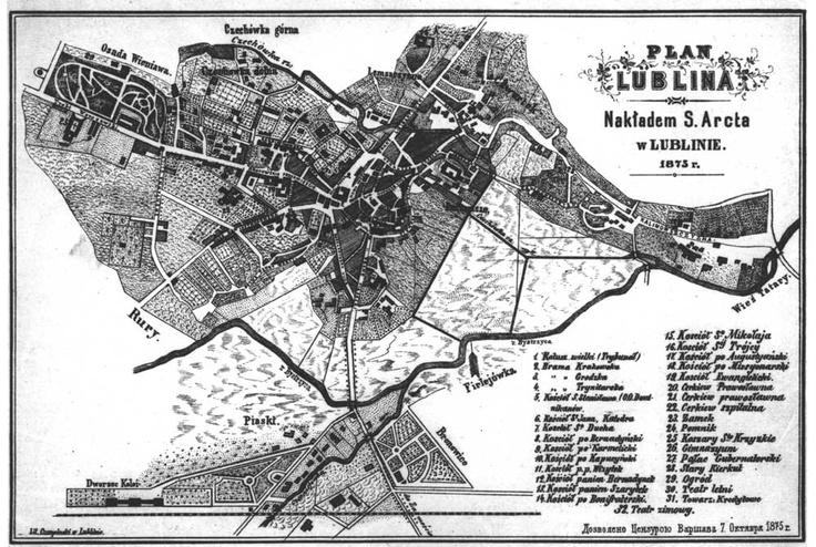 Plan Lublina (1875 r.)