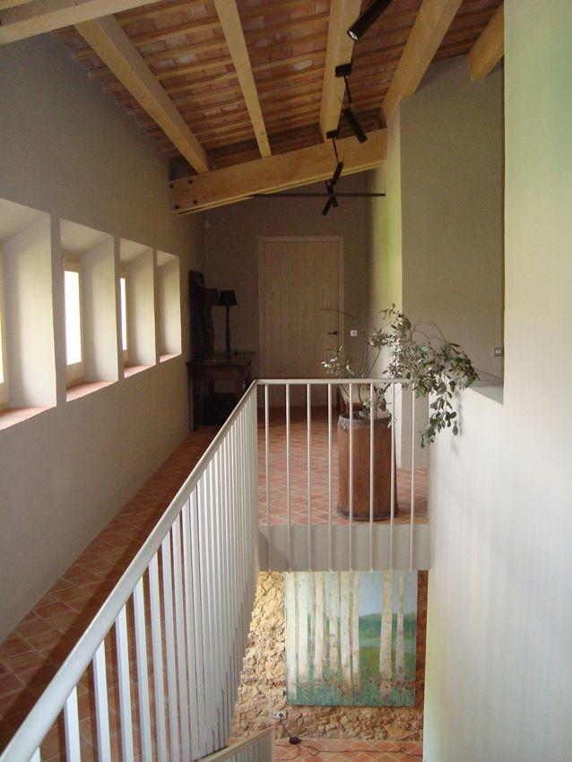 Reforma masía en el Empordá (Gerona), colaboración con Pepe Cortés (escalera a piso superior)