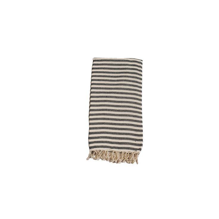 Mediterranean Charcoal Cotton Turkish Towel