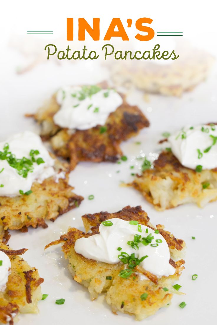 ina garten makes perfect potato pancakes by combining grated and mashed potatoes